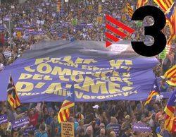 """TV3 evita utilizar la palabra """"castellano"""" en la retransmisión de la marcha antiterrorista en Barcelona"""