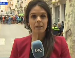 Un vídeo desmiente la agresión a una reportera de TVE que informaba del proceso independentista de Cataluña