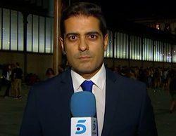 """Un independentista radical irrumpe en un directo de Telecinco a grito de """"¡Manipuladores!"""""""