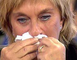 Chelo García Cortés se derrumba en 'Sálvame' al ver que David Valldeperas puja por su cuadro