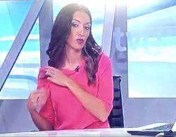 Así ha sido la pillada en directo a una presentadora del Telediario de TVE en Aragón