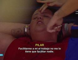 """Pilar ('GH Revolution') sufre un ataque de ansiedad durante una discusión: """"¡Falsos de mierda, gentuza!"""""""