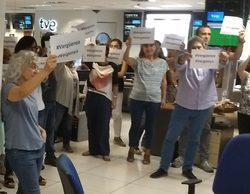Los trabajadores de TVE se plantan en Torrespaña contra la dirección de informativos y piden su dimisión