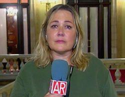 Mayka Navarro rompe a llorar en directo tras una discusión con Eduardo Inda en 'El programa de Ana Rosa'