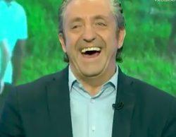 Josep Pedrerol sufre un ataque de risa tras el enfado de un reportero en 'El Chiringuito de jugones'