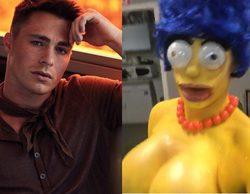 Colton Haynes ('AHS: Cult') se convierte en una Marge Simpson de pechos descomunales