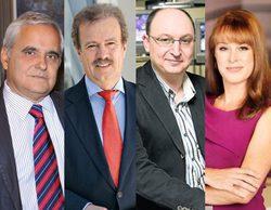 Juan Cruz, Fran Llorente, Manuel Campo Vidal y Gloria Lomana, posibles candidatos a presidir RTVE