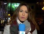 Una familia independentista catalana sabotea el directo de una reportera de 'Informativos Telecinco'