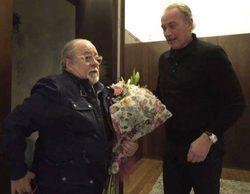 """Bertín Osborne y Arévalo se reconcilian en 'Mi casa es la tuya': """"Estoy nervioso y todo por verte"""""""