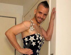 Dabiz Muñoz se prueba el vestido de Cristina Pedroche de las últimas Campanadas
