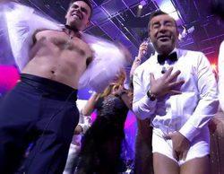 Jorge Javier Vázquez se desnuda y acaba en calzoncillos en 'Sálvame Stars' en la Nochevieja de Telecinco