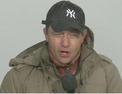 José Ángel Abad sufre los estragos del ciclón bomba de Nueva York en pleno directo de 'Antena 3 Noticias'