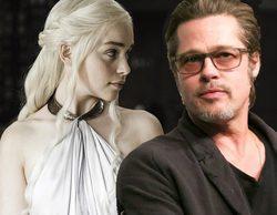 Brad Pitt ofrece 120.000 dólares para ver un capítulo de 'Juego de Tronos' junto a Emilia Clarke