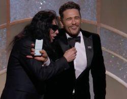 Globos de Oro 2018: James Franco sube por sorpresa al escenario a Tommy Wiseau al ganar su premio