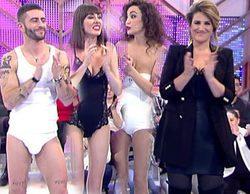 Carlota Corredera muestra sus fajas y los estilistas de 'Cámbiame' se desnudan para ayudar a una participante