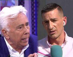 Andrés Caparrós agrede a Sergi Ferré, reportero de 'Sálvame', tras preguntar por la polémica de su hijo