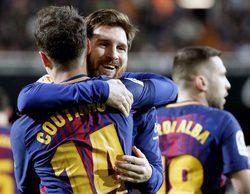 El partido entre el Valencia y el FC Barcelona lidera con un 6,1% en Gol y 'Big Bang' destaca en Neox (3,9%)