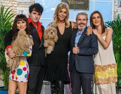 Bibiana Fernández encarga abrigos a medida para sus perros a los aprendices de 'Maestros de la costura'