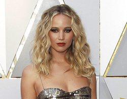 Oscar 2018: Jennifer Lawrence, protagonista de la gala mientras salta las butacas con una copa de vino