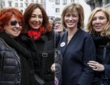 """Las periodistas televisivas se suman a la concentración """"Las Periodistas Paramos"""" en el centro de Madrid"""