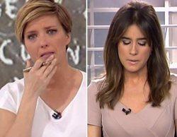 María Casado e Isabel Jiménez, muy emocionadas al informar sobre la desaparición de Gabriel Cruz
