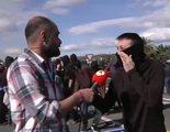 """Un manifestante independentista reprende a un reportero de 'Espejo público' en directo: """"¡Sigue mintiendo!"""""""
