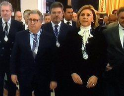 Lluvia de críticas a 'La mañana de La 1' y TVE por ofrecer el besamanos de cuatro ministros del PP en directo