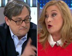 """Paco Marhuenda y Elisa Beni se enfrentan en 'Espejo público': """"¡Hay que quemar iglesias!"""""""