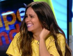 Cristina Pedroche, herida en 'Zapeando' tras intentar partir nueces con el cuello al estilo de Fernando Alonso