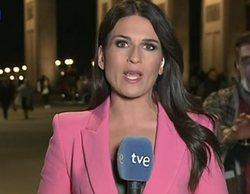 """Un """"zombie"""" acecha en directo a la enviada especial del 'Telediario' de La 1 en Berlín"""