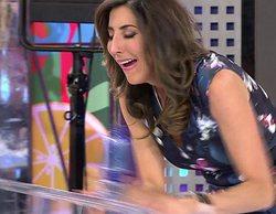 Paz Padilla se carga una mesa en 'Sálvame' al parodiar el llanto de Sofía Suescun en 'Supervivientes'