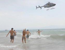 Los 'Supervivientes', en alerta roja por temporal, reciben un contingente de supervivencia