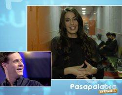 "Almudena Cid sorprende a Christian Gálvez: ""No podía faltar en este 'Pasapalabra en familia' que comienzas"""