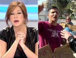 """Un activista catalán insulta a Ana Rosa Quintana y la llama """"ricachona"""" y """"fascista"""" en directo"""
