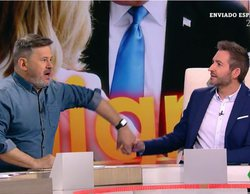 'Zapeando': Miki Nadal provoca la aparatosa caída en directo de Frank Blanco