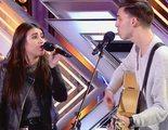 La emotividad de Samuel y Tamy, una pareja nacida en un campamento religioso, triunfa en 'Factor X'