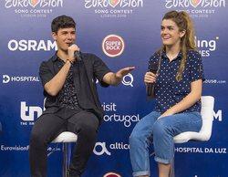 """Amaia y Alfred, tras su primer ensayo en Eurovisión 2018: """"Estamos muy contentos"""""""