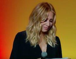 Marta Sánchez llora en un acto de Ciudadanos al recordar su versión del himno español