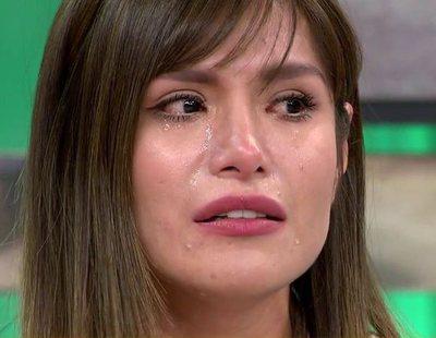 """Miriam Saavedra se derrumba en 'Sálvame': """"Carlos Lozano ha muerto para mí"""""""