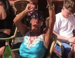 Aída Nízar protagoniza un polémico vídeo en una terraza tras su multa por bañarse en la Fontana di Trevi