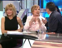 """Tenso rifirrafe entre Celia Villalobos y Arsenio Escolar en 'Espejo público': """"Estoy cansada de oíros"""""""