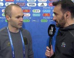 """Iniesta concede su entrevista más cortante a Juanma Castaño: """"Te veo un poco... distinto"""""""