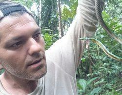 Frank Cuesta, a punto de perder un dedo tras la mordedura letal de una víbora