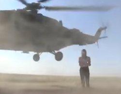 Una reportera casi muere en una conexión en directo por un helicóptero