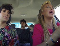 'Sálvame': Belén Esteban, parada por la policía en su nueva sección mientras conduce con los Javis