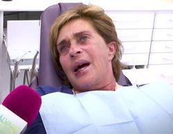 Chelo García-Cortés sufre una dolorosa caída y acaba con un diente roto y un hueso fracturado
