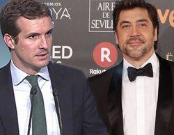 """Las televisiones recuerdan cuando Pablo Casado llamó """"imbécil"""" y """"subnormal"""" a Javier Bardem en Intereconomía"""