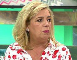 'Sálvame': Carmen Borrego rompe a llorar y sale del plató tras ver un vídeo relacionado con Terelu
