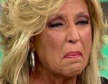 Lydia Lozano, hecha un mar de lágrimas en 'Sálvame' al ser acusada de traicionar a su compañero Kiko Matamoros