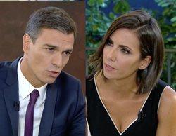 'El objetivo': La tesis, las dimisiones y una pullita de Ana Pastor marcan la entrevista a Pedro Sánchez